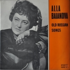 Alla Baianova ''Old Russian Songs'' Lp Romania