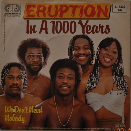 Eruption ''In A 1000 Years'' 1983 Single