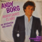 Andy Borg ''Arrivederci Claire'' 1982 Single