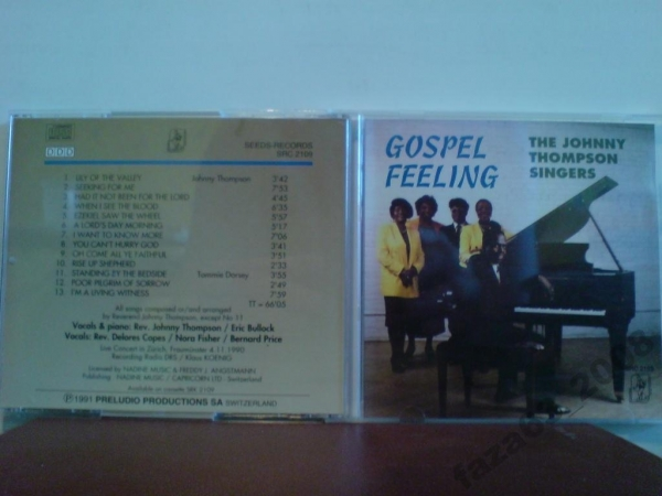 Johnny Thompson Singers Gospel...Фирменный На cd