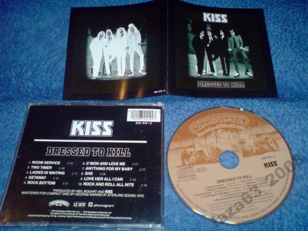 Kiss Dressed to kill 1975г Germany стар.издание CD