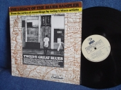 Twelve Great Blues The Legacy Of The Blues Sampler Bukka White.Lightnin' Hopkins. Memphis Slim LP