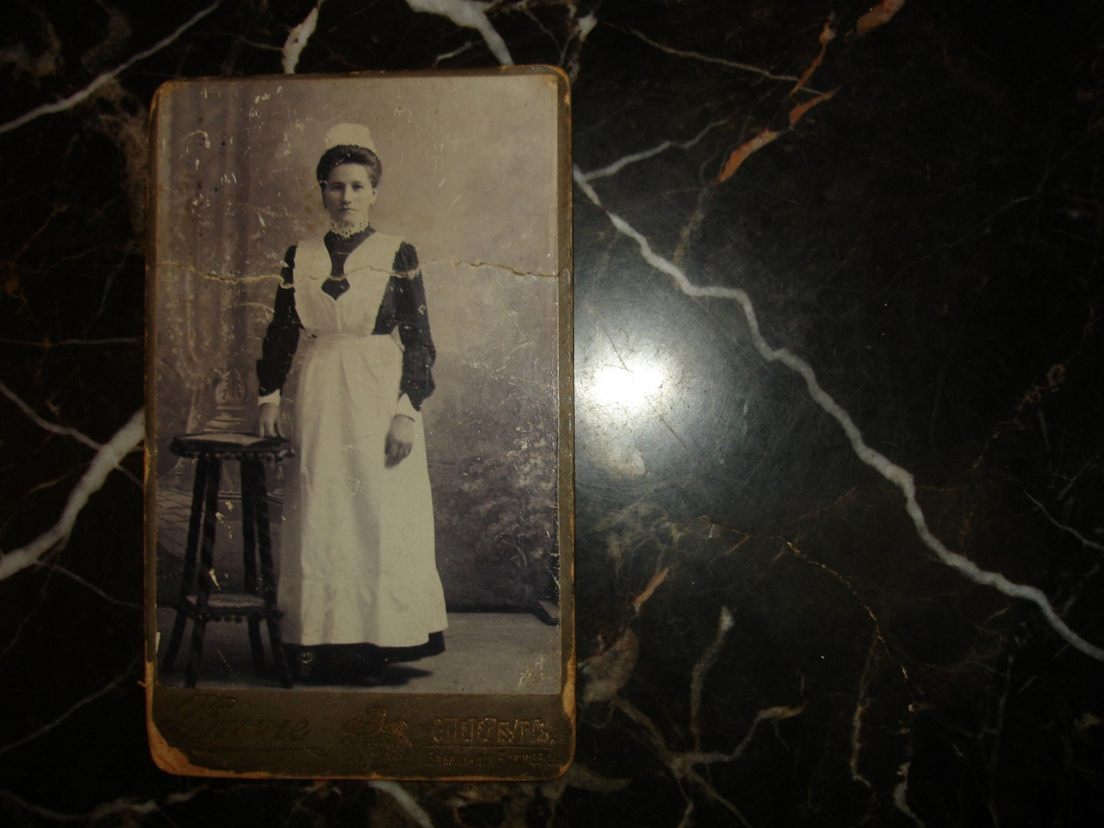 43cbdd0cfb2 Купить Старинный визит-портрет.ГОРНИЧНАЯ