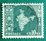 Индия 0957 Карта Индии Sc#281 Used