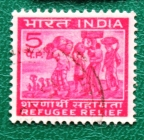 Индия 0971 Беженцы Sc#RA3 Used