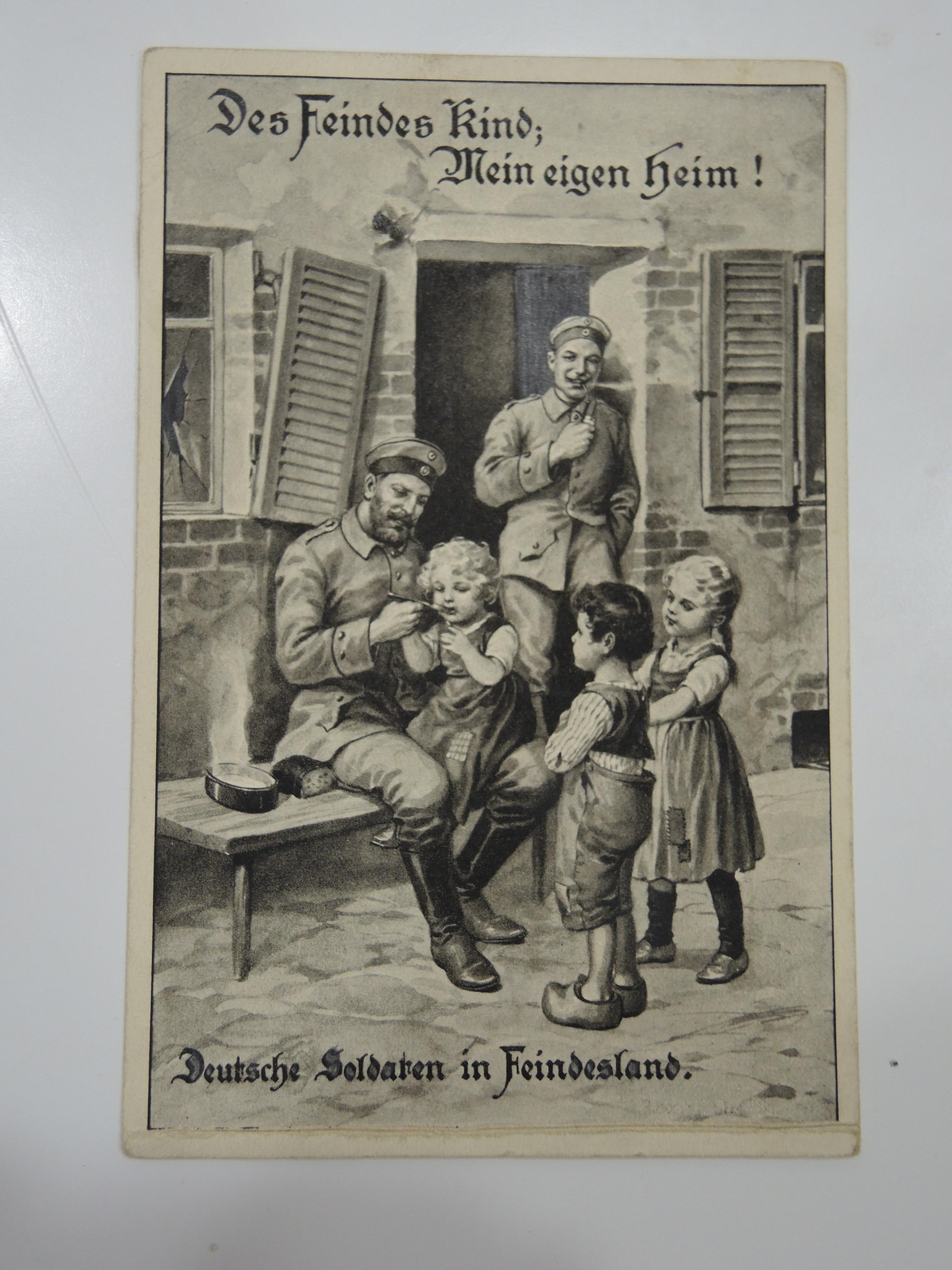 Надписью, немецкий солдат на открытке