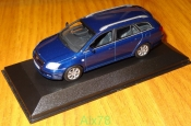 Toyota Avensis Wagon, blue, Minichamps, 1:43, металл