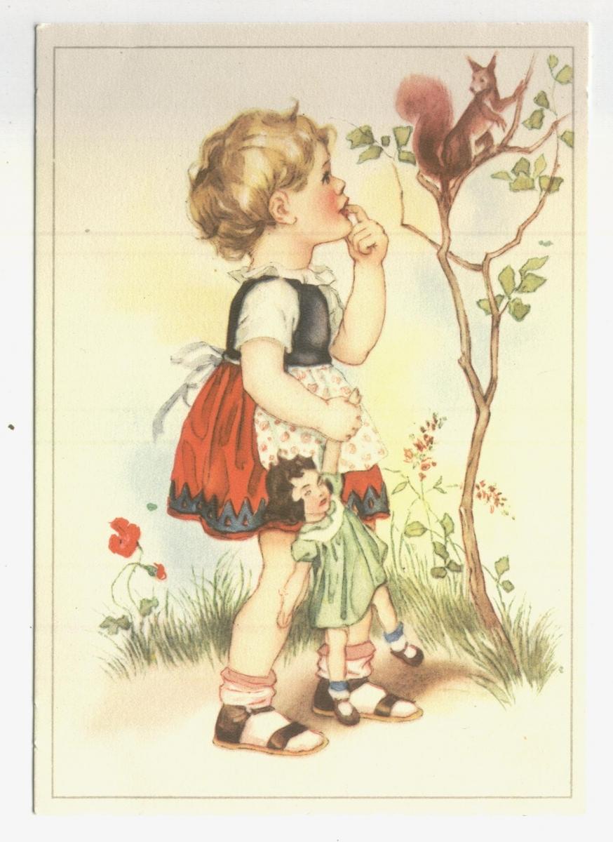 Рисунки старые открытки