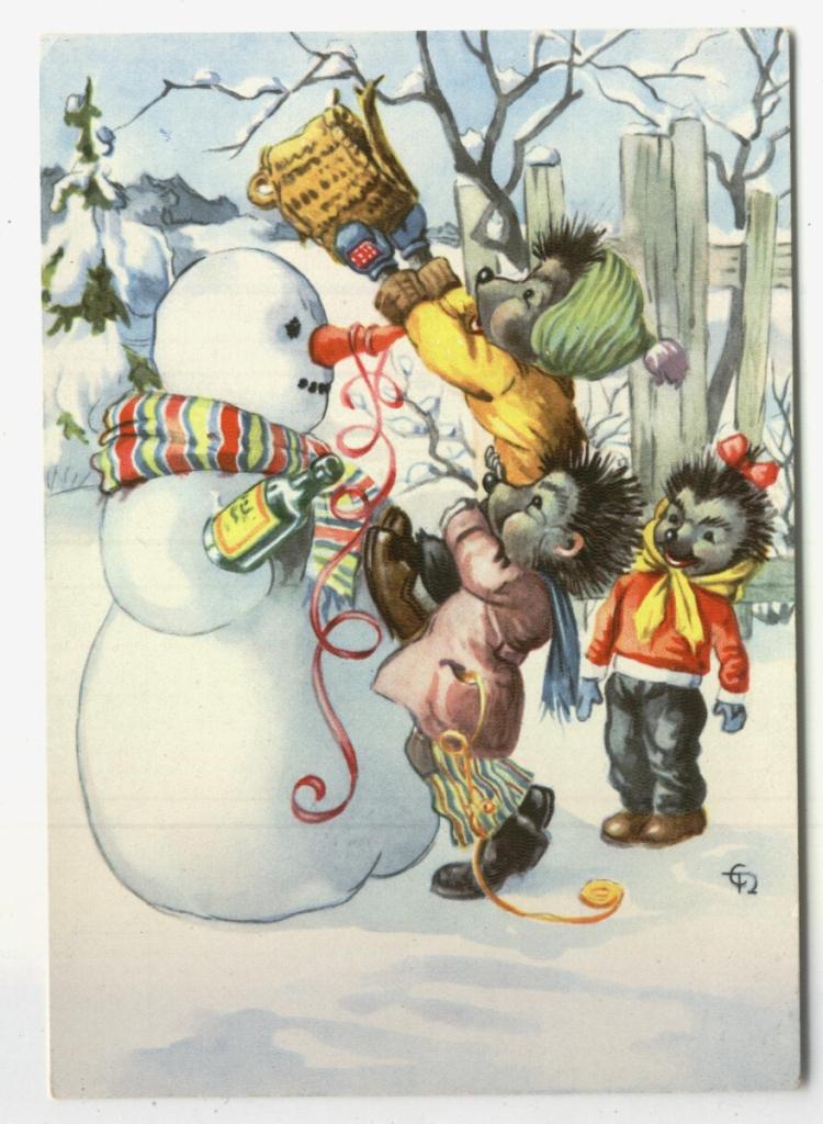 картинки с советских открыток мыши грибами капустой украсит