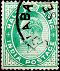 Индия 1906 год . King Edward VII 0,5 a . (2)